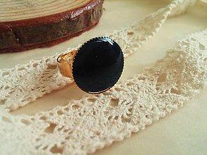 Prstene - Prstienok black elegance - 5282321_