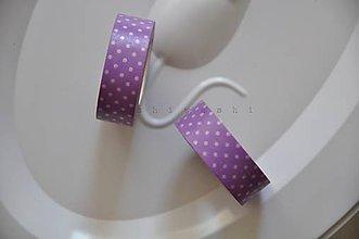 Papier - washi paska fialovo biela bodka - 5285701_