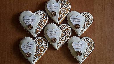Darčeky pre svadobčanov - Svadobné medovníčky - 5285498_
