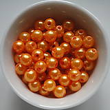 - Plast.perličky 6mm-oranž-50ks - 5284493_