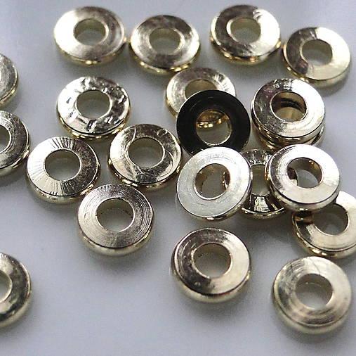 Kov.rondelka 5x1mm-sv.zlatá-1ks