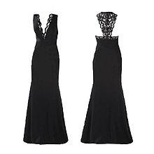 Šaty - Elastické šaty s krajkovou portou na chrbáte rôzne farby - 5284316_