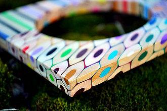 Náramky - Náramok z farbičiek s prierezmi - 5284792_
