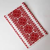 Papiernictvo - Na ľudovú nôtu - záložka červená - 5284476_