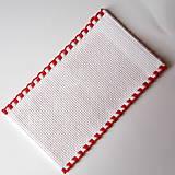 Papiernictvo - Na ľudovú nôtu - záložka červená - 5284477_