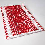 Papiernictvo - Na ľudovú nôtu - záložka červená - 5284478_