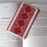 Papiernictvo - Na ľudovú nôtu - záložka červená - 5284479_