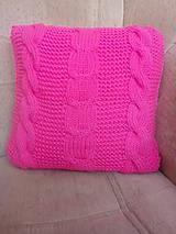 Úžitkový textil - Ružový vankúšik - 5284867_