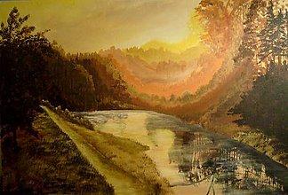 Obrazy - opar nad riekou - 5286410_