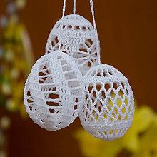 Dekorácie - Vajíčka biele-5 - 5286211_