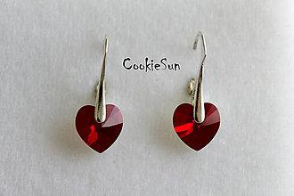 Náušnice - Náušnice Swarovski Heart Siam AB - 5287877_