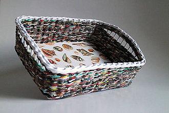 Košíky - Košík papierový - More | veľký - 5289228_