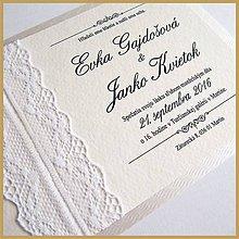 Papiernictvo - Svadobné oznámenie ~Čipka Silver~ - 5287018_