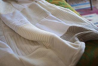 Úžitkový textil - Provence krémová deka - 5285931_
