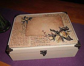 Krabičky - Dvojposchodová šperkovnica-ruže - 5289286_
