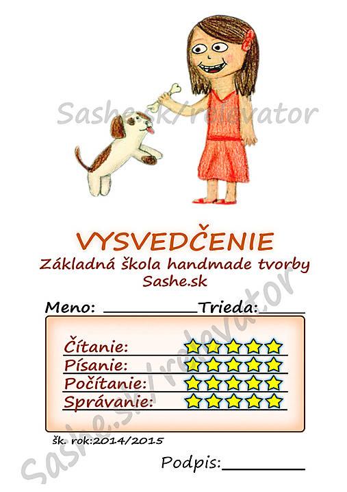 Vysvedčenie So psíkom (Detský svet)