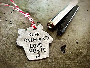 Kľúčenky - KEEP CALM / cup cake - 5293304_