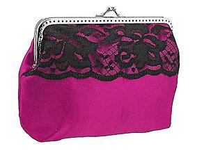 Taštičky - Dámská spoločenská kabelka růžová 08251 - 5293634_