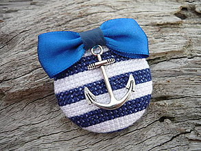 Odznaky/Brošne - Brož Námořnice modro-bílá - 5291678_