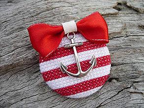 Odznaky/Brošne - Brož Námořnice červeno-bílá - 5291705_