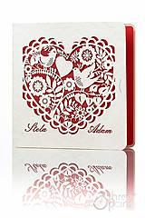 - Ľudové srdce - svadobné oznámenia - 5291092_