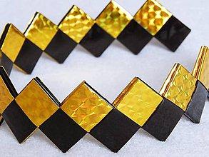 Ozdoby do vlasov - Čelenka - čierno zlatá - 5291252_
