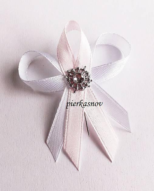 Svadobné pierko malé pre hostí bielo ružové