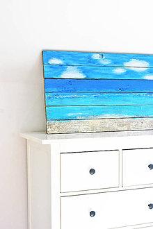 Obrazy - Dřevěný obraz Oceán 100x49 cm - 5294565_