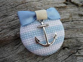 Odznaky/Brošne - Brož Námořnice modro-bílá - 5294835_