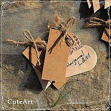 Darčeky pre svadobčanov - Darčeky pre svadobných hostí - menovky - 5297245_