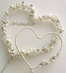 """Dekorácie - Zápich do torty - """"Crystal Hearts"""" - 5294165_"""