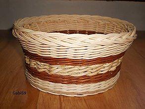 Košíky - Kukuričná šnúra medzi hnedými pásmi - 5296227_