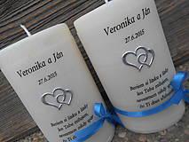Svietidlá a sviečky - sviečka pre mladomanželov - 5294338_