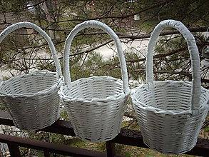 Košíky - svadobný - pre družičky.. - 5294254_