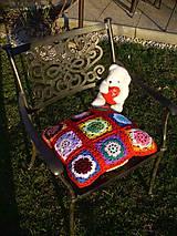 Úžitkový textil - Žmurkanie v tráve ...  :o), vankúšik - 5296617_