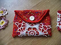 Taštičky - Červené nokturno s nádejou, kapsička a obal na mobil - 5296965_