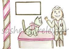 Papiernictvo - Svetový veterinárny deň - pohľadnica (mačička) - 5295427_