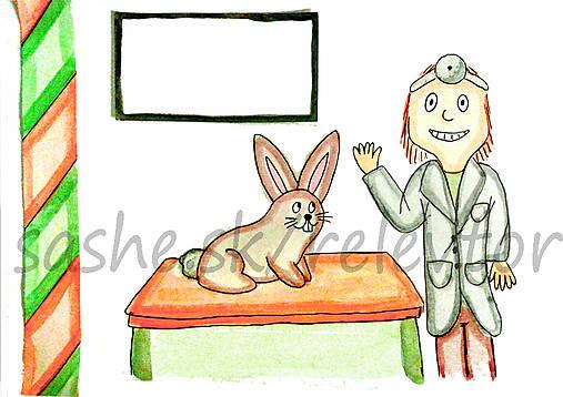 Svetový veterinárny deň - pohľadnica (zajačik)
