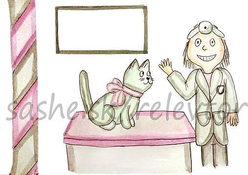 Svetový veterinárny deň - pohľadnica (mačička)