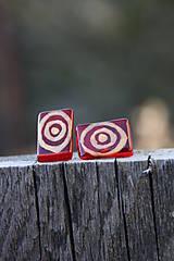 Náušnice - Red target - 5301795_
