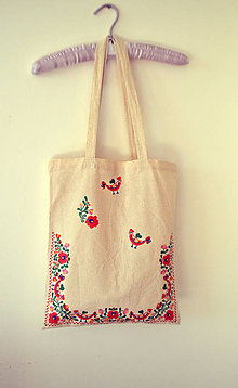 Nákupné tašky - ekotaška - na ľudovú nôtu - 5301500_