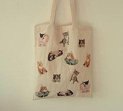 Nákupné tašky - ekotaška - miau miau - 5301556_