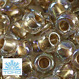 TOHO rokajl (Round 4mm) Gold-lined rainbow crystal
