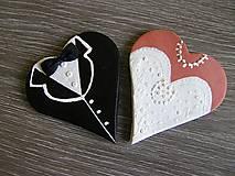 Darčeky pre svadobčanov - darček, menovka-nevesta+ženích/sada - 5300622_