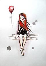 Kresby - Smutná klaunka - 5299383_