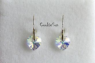 Náušnice - Náušnice Swarovski Heart Crystal AB - 5299812_