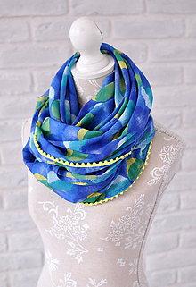 Šatky - megašatka modro - zelená - 5299615_