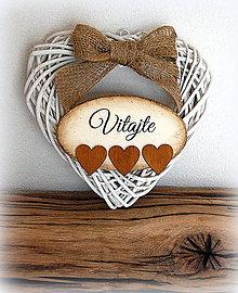 Dekorácie - Vitajte v srdci - 5299841_