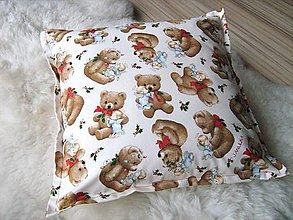 Úžitkový textil - Meďánkový - roztomilý polštářek - 5297673_