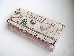 Peňaženky - Andělínka Fialková - velká na spoustu karet - 5297675_